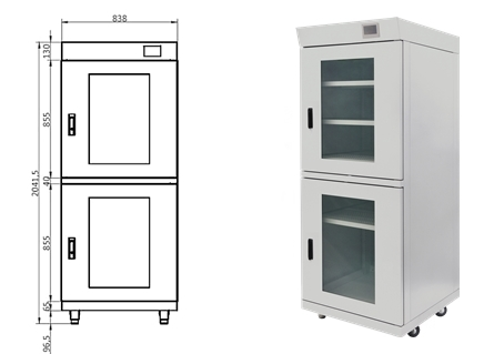 MPD basic dry cabinet 1222-54 dimensions