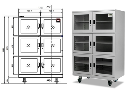 Pro Dry PDB 1106-40 dry storage cabinet dimensions