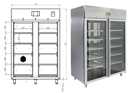 Pro Dry XPDC 1402-57 Long-Term Storage Cabinet - dimensions